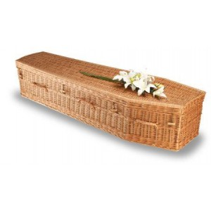 Premium Wicker / Willow Imperial Traditional Coffin. **Fair Trade Funeral Products**